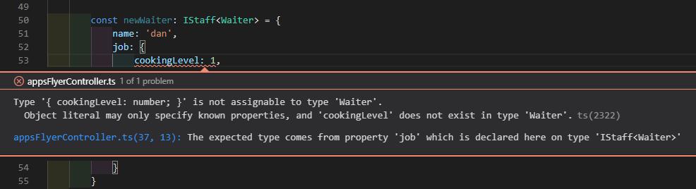 generics typescript error
